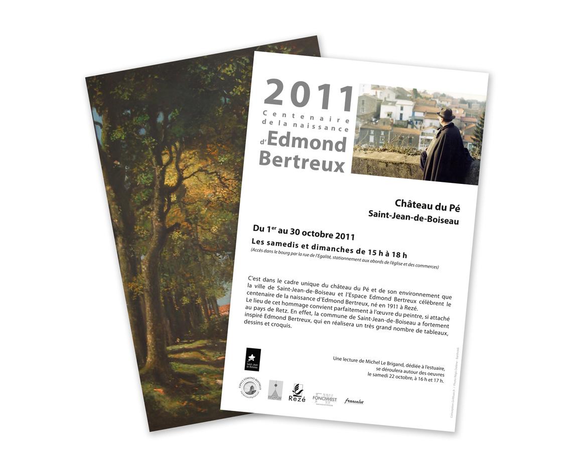 Flyers pour l'Exposition Edmond Bertreux au Château du Pé à St-Jean de Boiseau