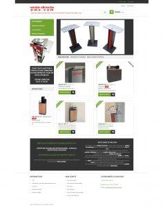 Site e-commerce-Prestashop-Vente-Pupitres-Mobilier-Bureau