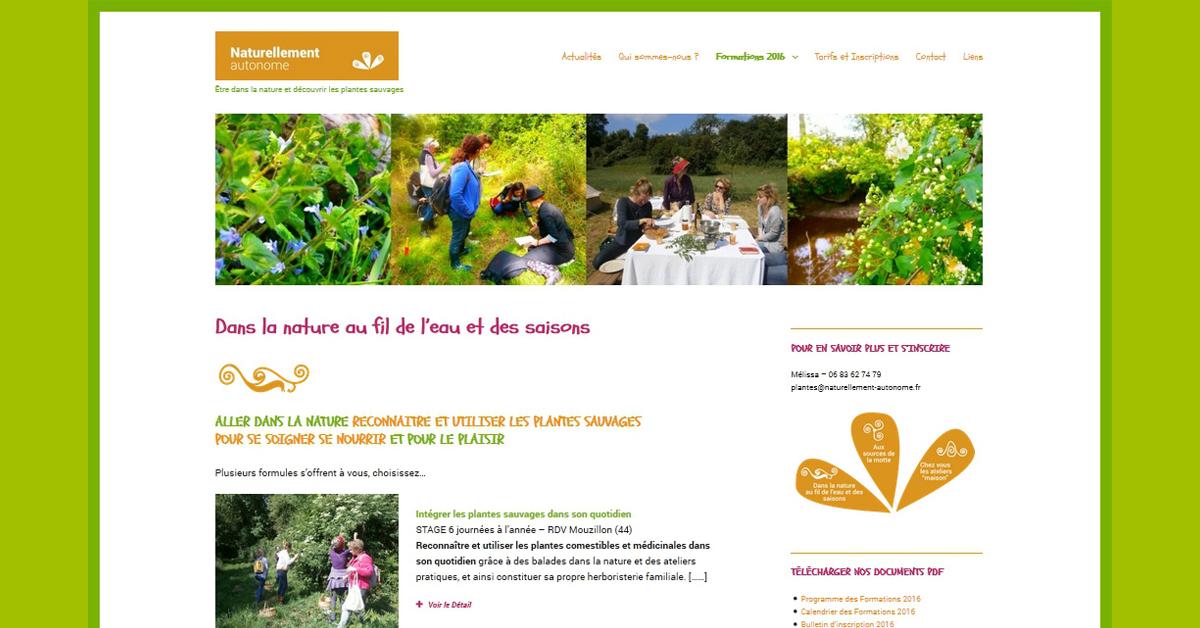 Site Internet sous Wordpress Association Loire Atlantique Naturellement Autonome